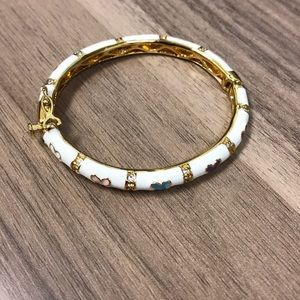 Other - Baby Enamel Hinge Bangle Bracelet